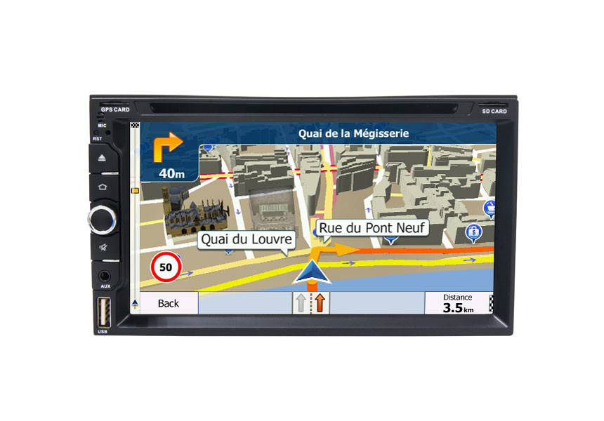 6.95 Inch In - Dash Car Navigation System Default Bluetooth GPS For Universal