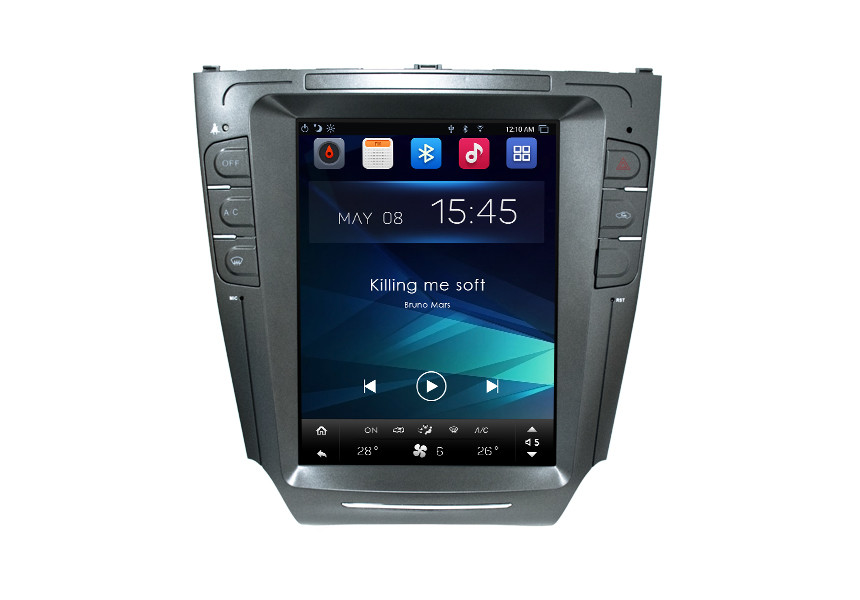 Tesla Style Touch Screen Car Multimedia Toyota Navigation System For Toyota Lexus IS
